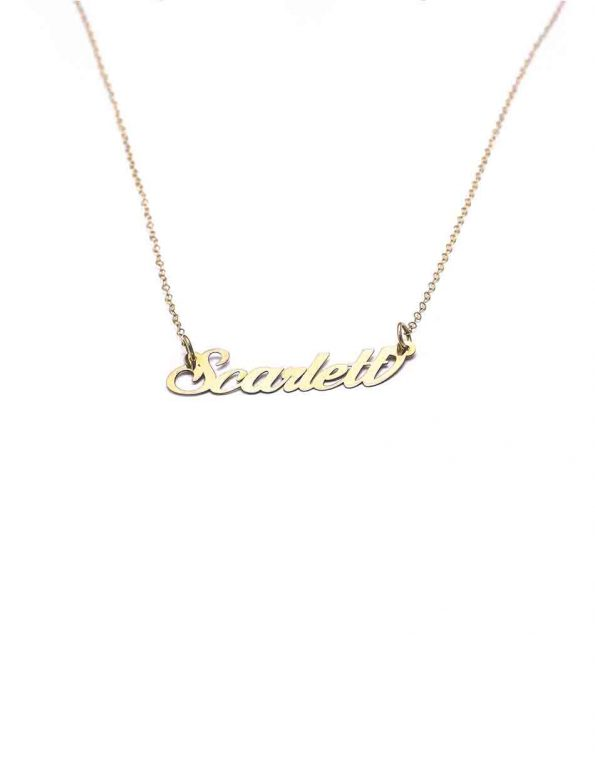 Lovely 14K gold name necklace is the sweetest gift for any occasion. Personalized necklace for girl of any age