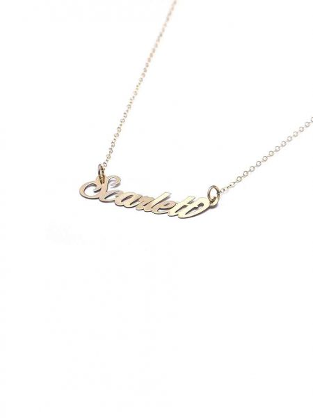 Lovely Gold Name Necklace, made of 14K gold, is the sweetest gift for any occasion! Personalized necklace for sister, daughter