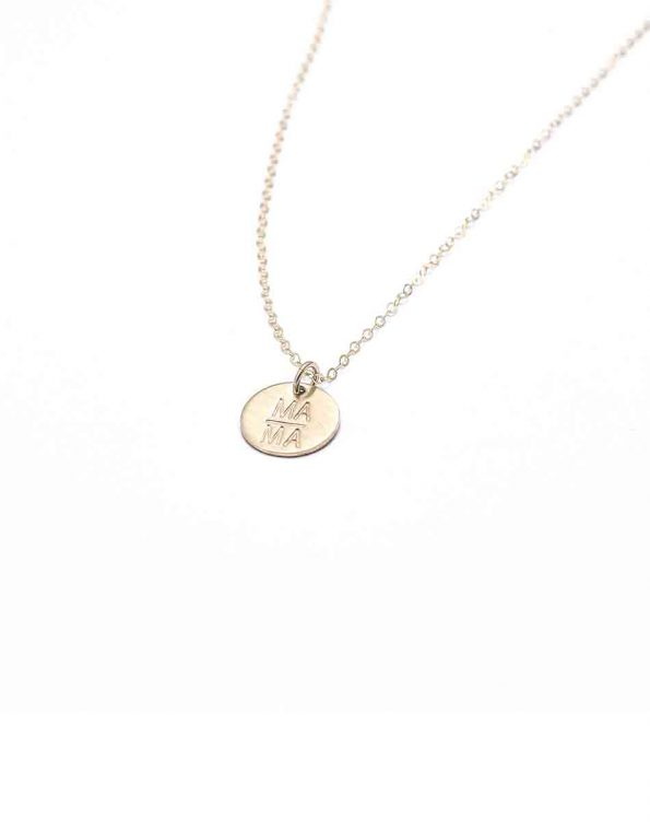 mama-disc-necklace-gold