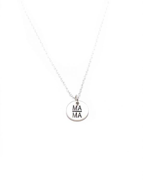 mama-disc-necklace-silver