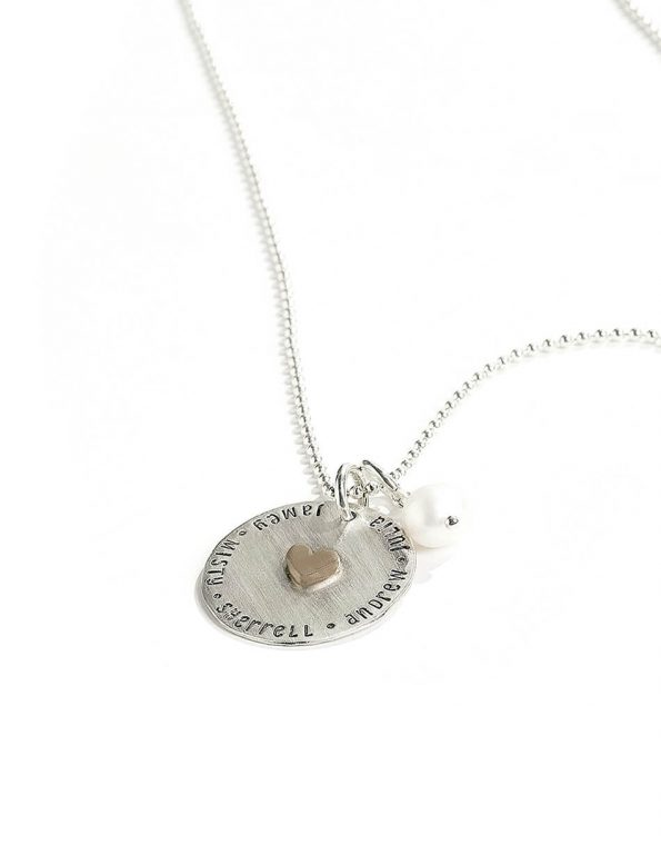 My Heart Is Full Sterling Silver Custom Necklace