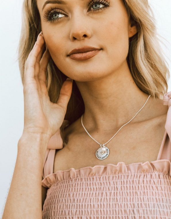 my-heart-is-full-sterling-silver-custom-charm-necklace-model
