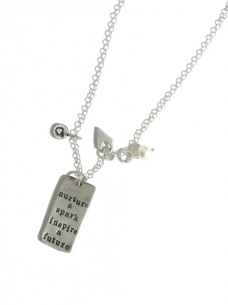 Hand stamped with a beautiful message for your favorite teacher. This comes along with an apple charm and a heart charm