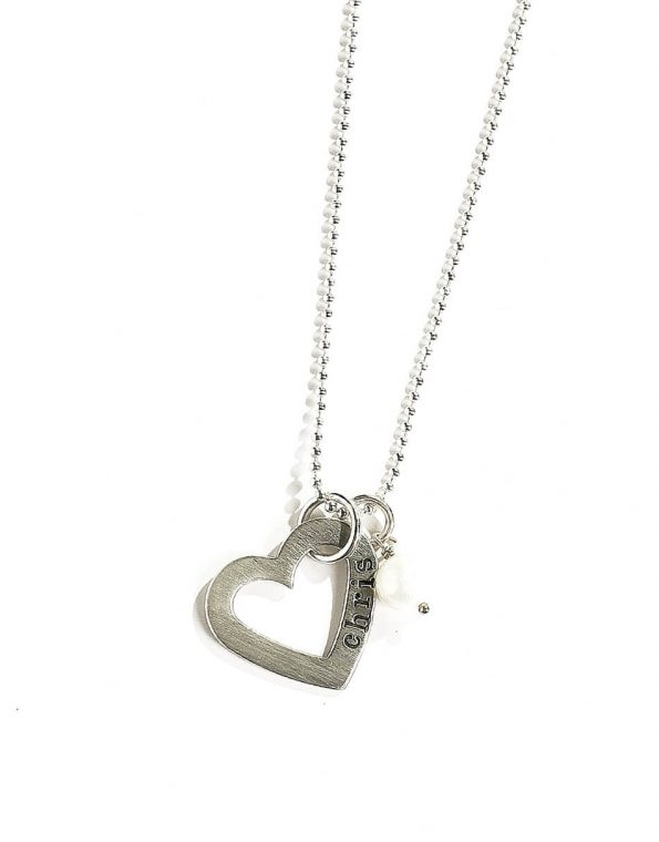 Open Heart Sterling Necklace