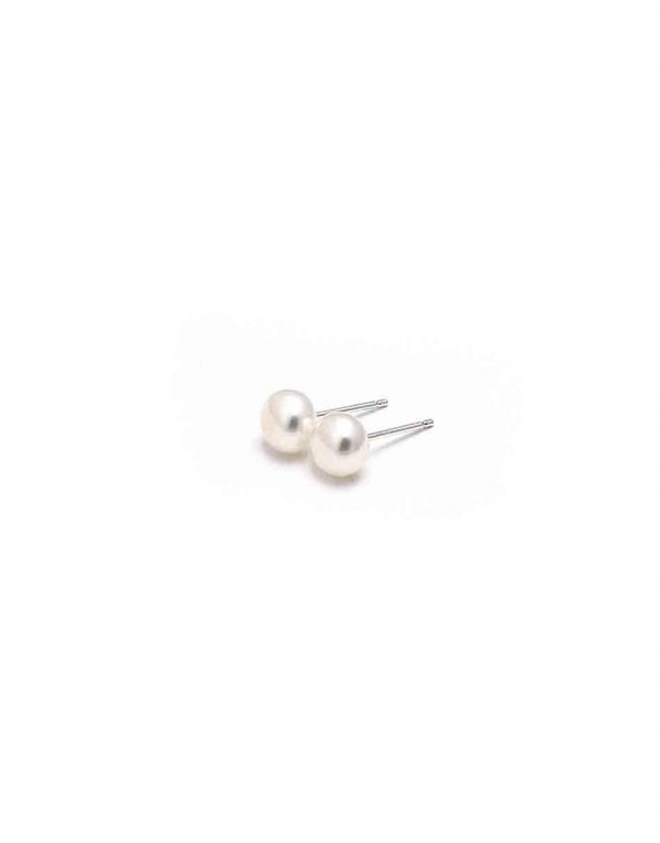 Timeless classic pearl stud earrings to pair with anything casual or fancy. Perfect earrings for sister, daughter, friend, or colleague