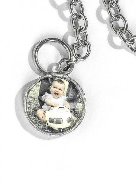 Picture Charm Bracelet. Bracelet with Photo of Baby.