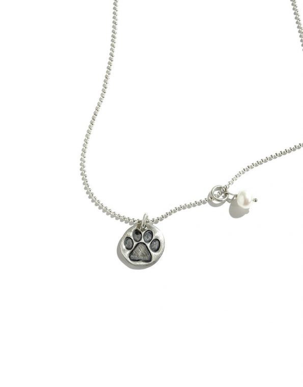 Puppy Love. Sterling Silver Necklace (rts)