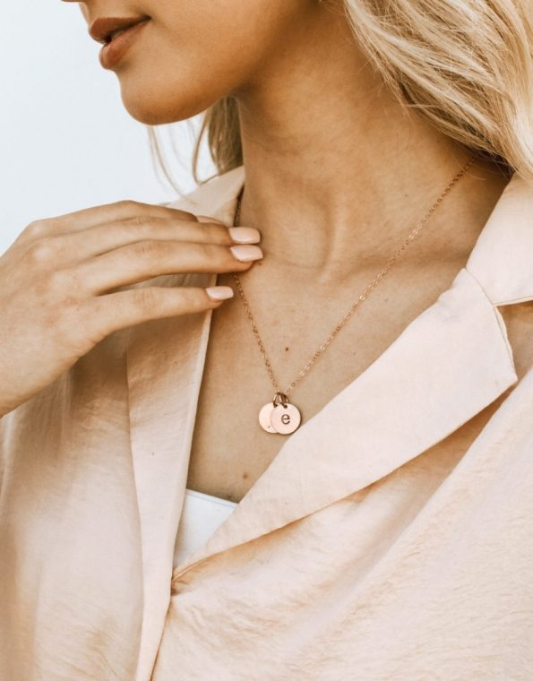 rose-gold-initials-on-a-chain-model-2