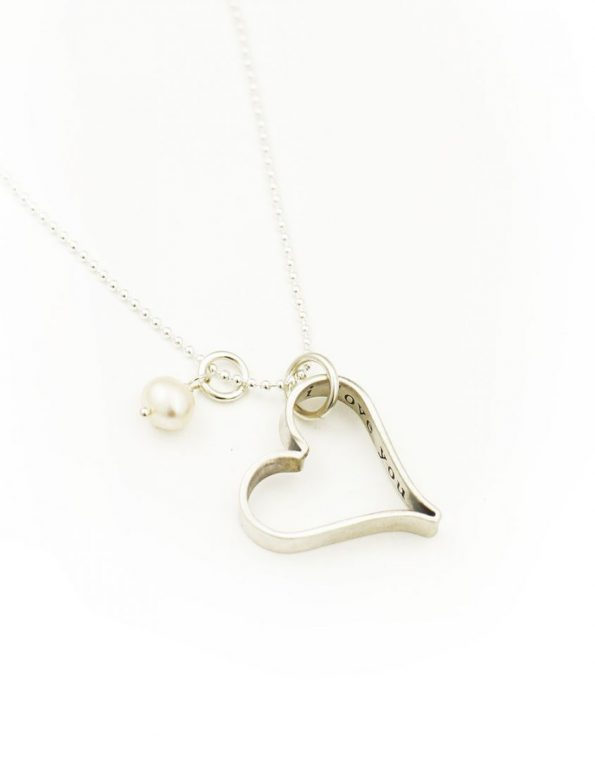 Secret Love Message Heart Sterling Silver Necklace