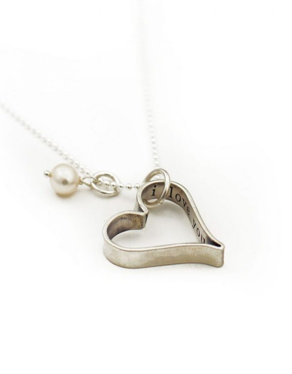 Sterling silver hand forged heart with a special secret message. Perfect gift for wife, mom, daughter