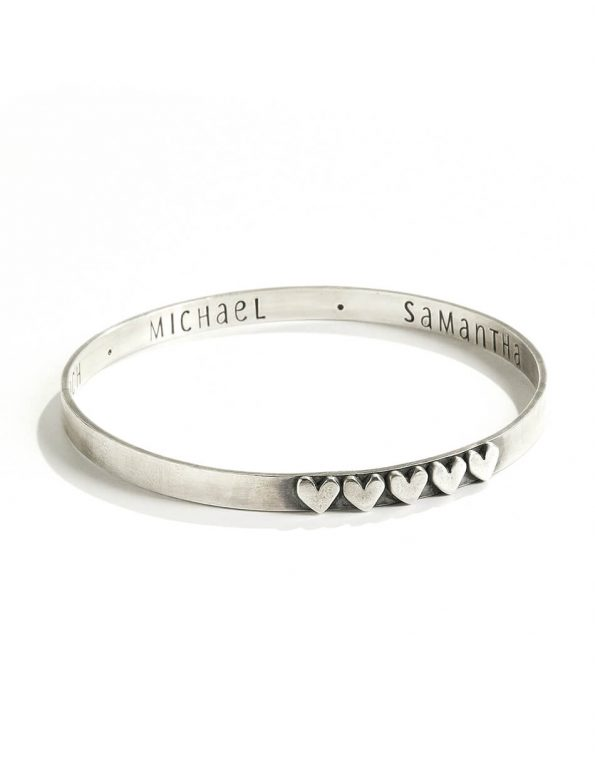 Secret Love Message Sterling Bangle
