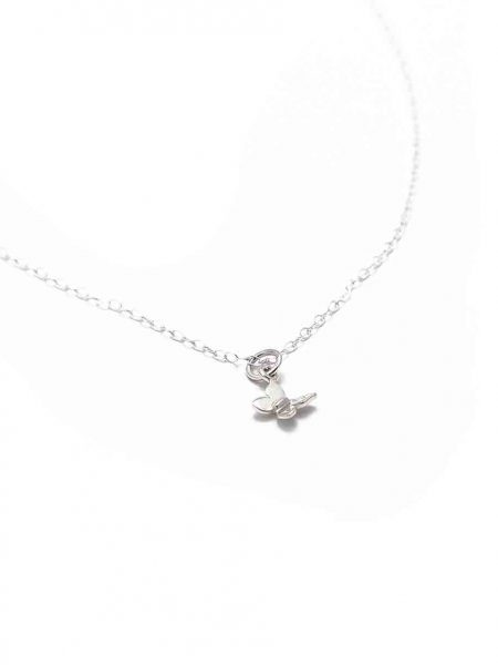 Sterling silver butterfly hung on a beautiful sterling silver dainty chain. Best necklace gift for sister, friend, daughter or a colleague.