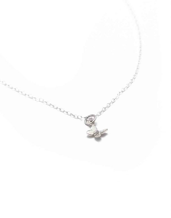 She Was Herself Sterling Silver Butterfly Necklace