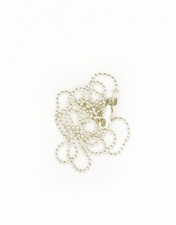 Add your favorite charms to this sterling silver ball chain. Customize the length as per your requirement