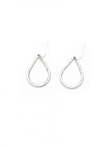 Sterling silver tear drop earrings hung on sterling ear wires. Beautiful gift for daughter, sister or friend