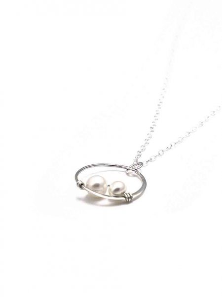 Made in sterling silver or with a gold plated circle and freshwater pearls. This is such a beautiful necklace for a mom, or wife