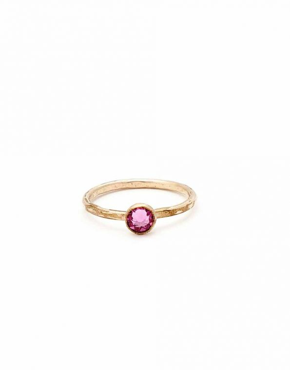 Stacking gold ring with beautiful Swarovski birthstone. Perfect gift for BFFs, sister, wife, mom