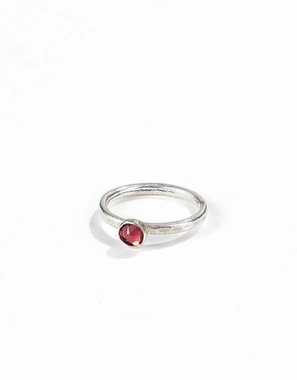 stacking-birthstone-sterling-rings-red