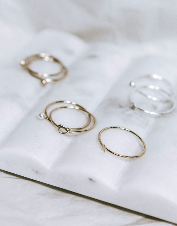Stacking Dainty Gold Star Ring