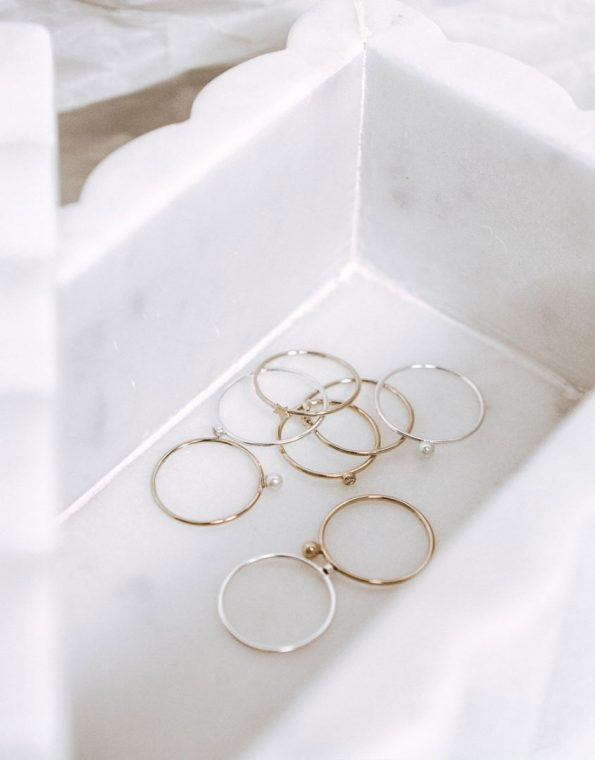 Stacking Dainty Pearl Ring