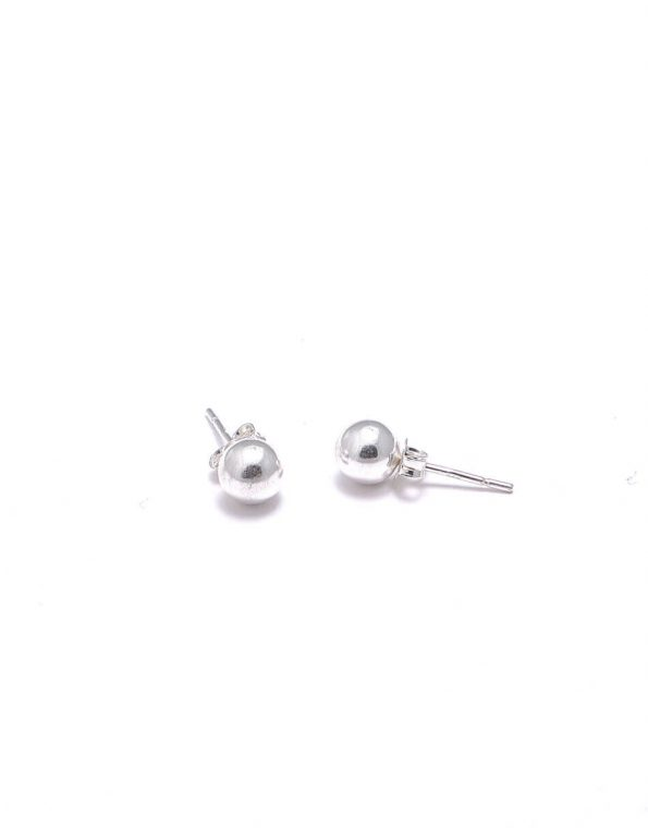 Everyday jewelry with a classic look. The sterling ball stud earrings are the best gift for friends, moms, wife, sister