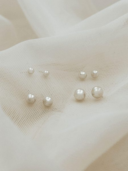 Sterling silver ball stud earrings with a classic look. Available in different sizes. Perfect gift for girls of all ages.
