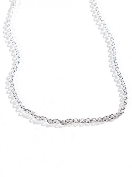18″ sterling silver Rolo chains, a perfect gift for wife, mom, grandma. Personalize necklace with a charm of their choice