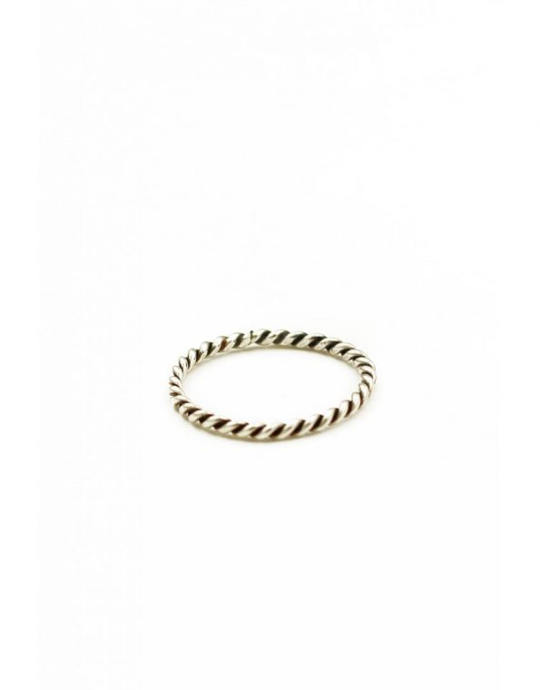 A handmade sterling silver rope ring. Wear it alone or add to the existing ring set.