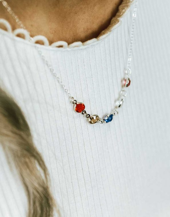 sterling-silver-connected-birthstone-necklace-model-4