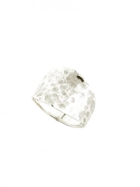 Sterling silver hammered ring is such a beautiful classic piece. Perfect gift to pamper oneself