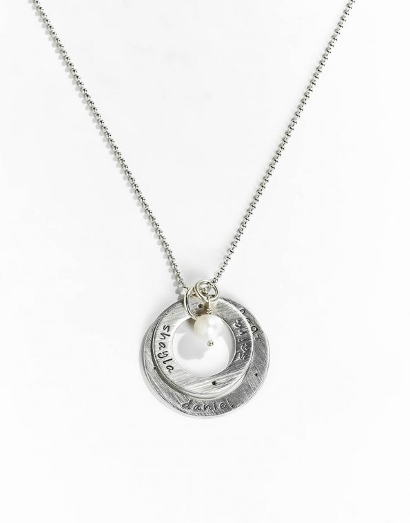 Sterling Silver Layered Eternity Circle Necklace