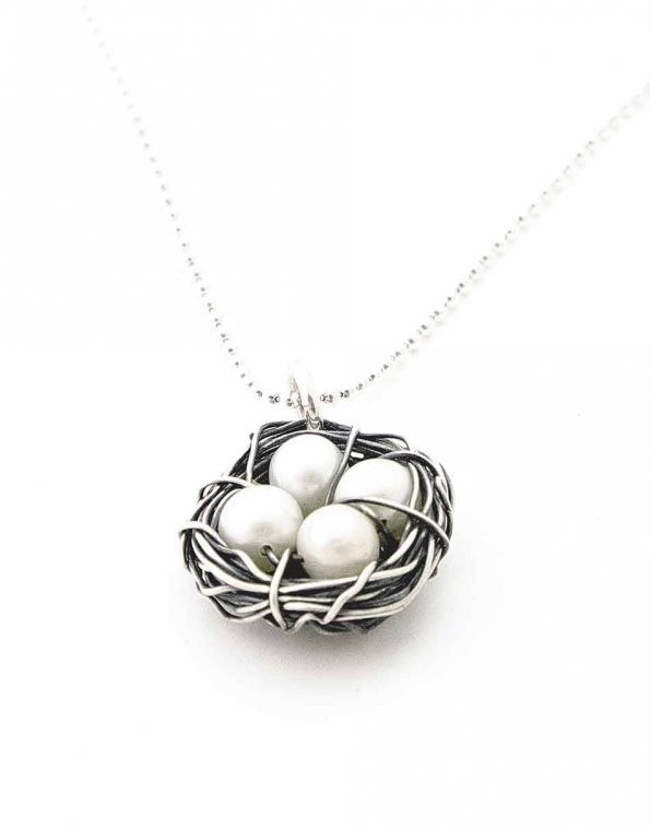 Sterling Silver Messy Nest Necklace