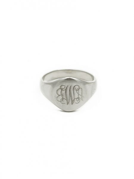 Sterling silver oval signet ring for your rings collection. Get your name or initials engraved. Perfect for couples, friends, family