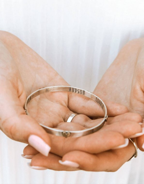 Surrounded With Love Secret Message Bangle