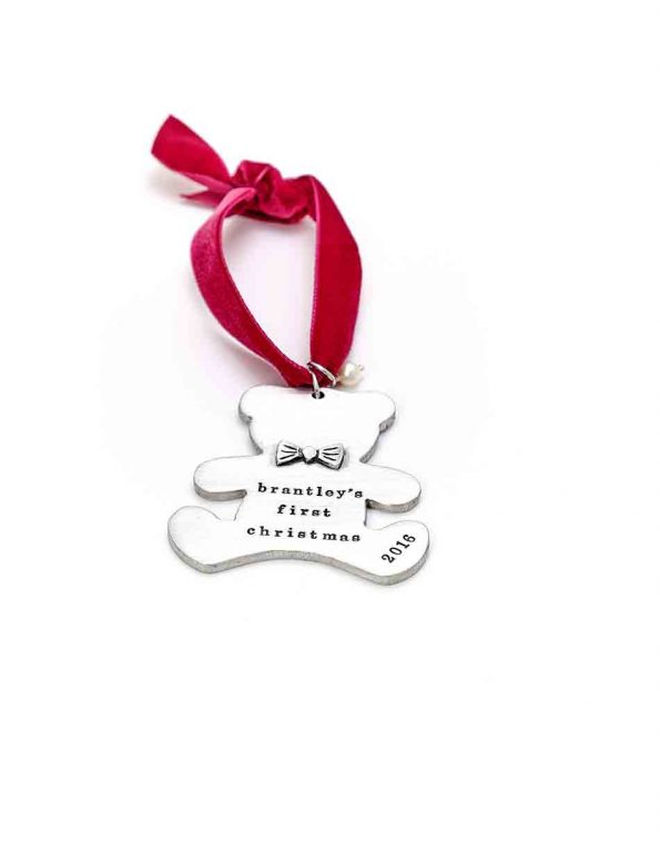 Handcrafted and casted in fine pewter. Customize with name, birthdate, weight. Perfect gift for your kids