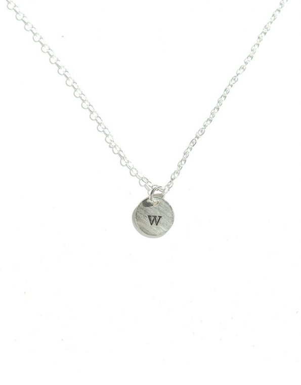 Tiny Initial Necklace (Silver)