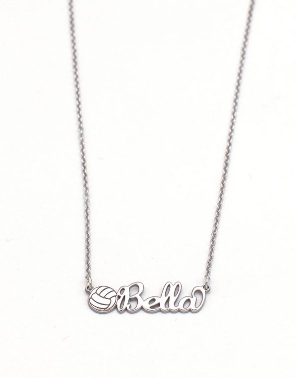 volleyball-name-charm-necklace-gold