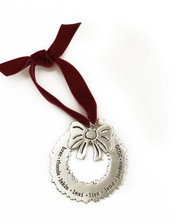 Our Family Wreath Ornament