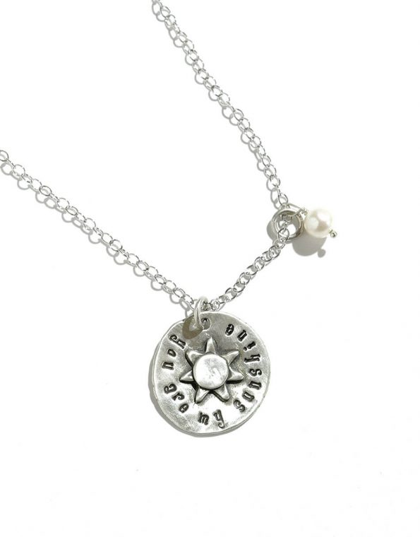 You are my sunshine necklace with freshwater pearl