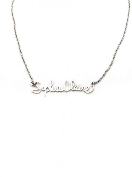 Sterling silver signature necklace in your or your loved ones hand writing. Personalized necklace for grandma, mom or wife